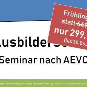 Ausbilderschein Online-Seminar für 299 Euro